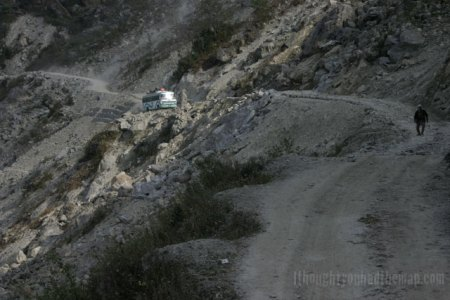 The road to Dhunche