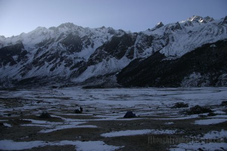 Our camp at 4000m