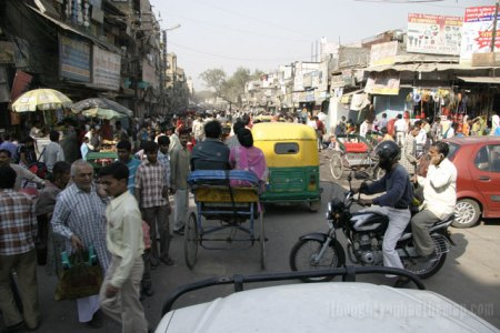 Typical traffic in India -still no excuse though Simon